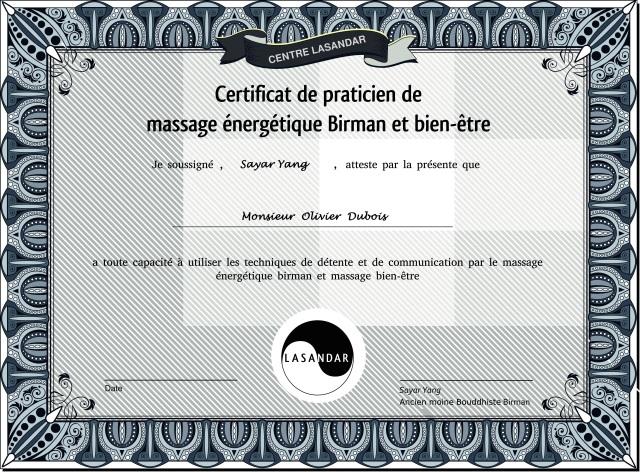 diplôme massage (exemplaire homme)